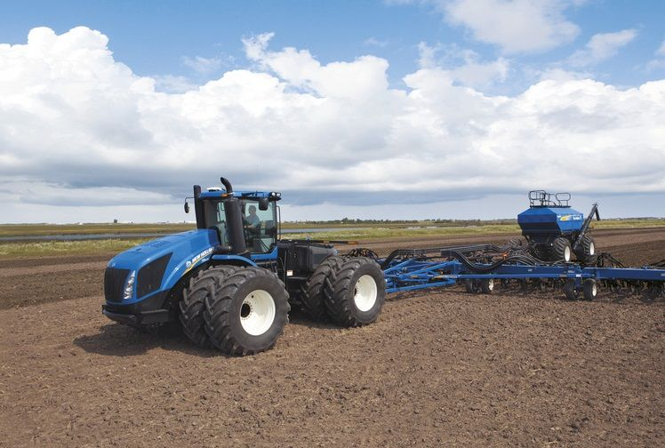 New Holland T9.700, coming in second, delivers a whopping 682 hp
