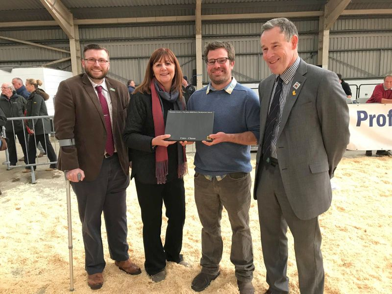 (Centre right) Adam Jones has been crowned Dairy Stockperson of the Year