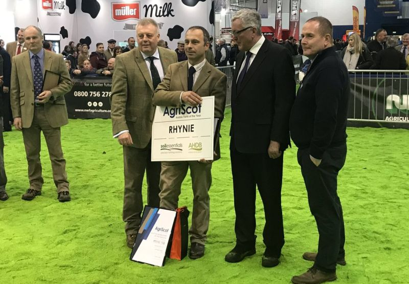 Donald Ross has been crowned Scottish Arable Farm of the Year, announced at AgriScot (Photo: AgriScot/Twitter)