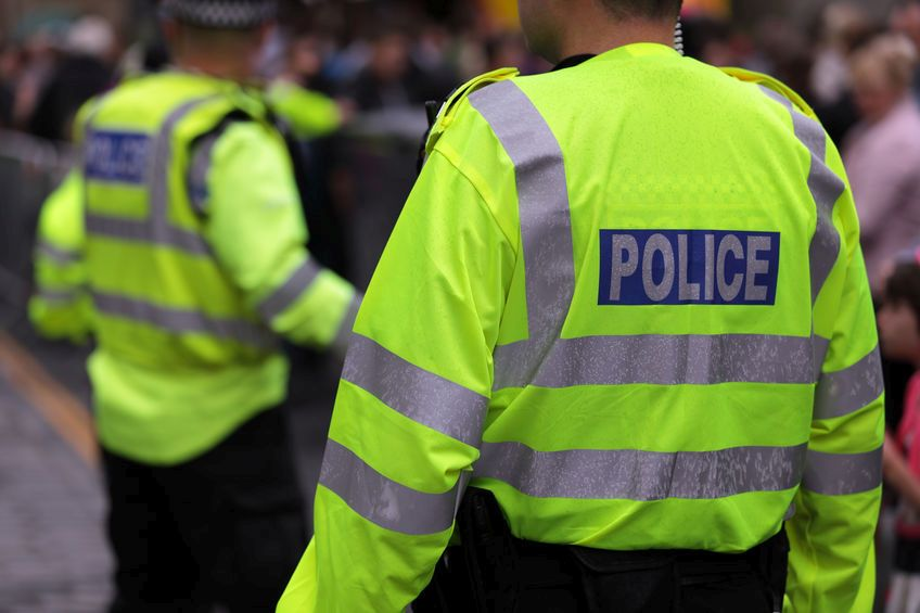 A woman and the young boy were taken to hospital after being assaulted by the three men