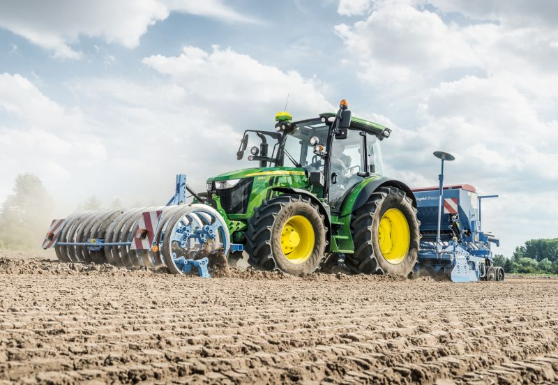 The John Deere's latest 5R Series tractors, which will be available AutoTrac and ISObus-ready for the first time from this spring