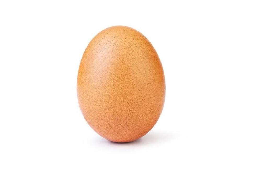 The egg photo, posted on 4 January, currently stands at over 40 million likes