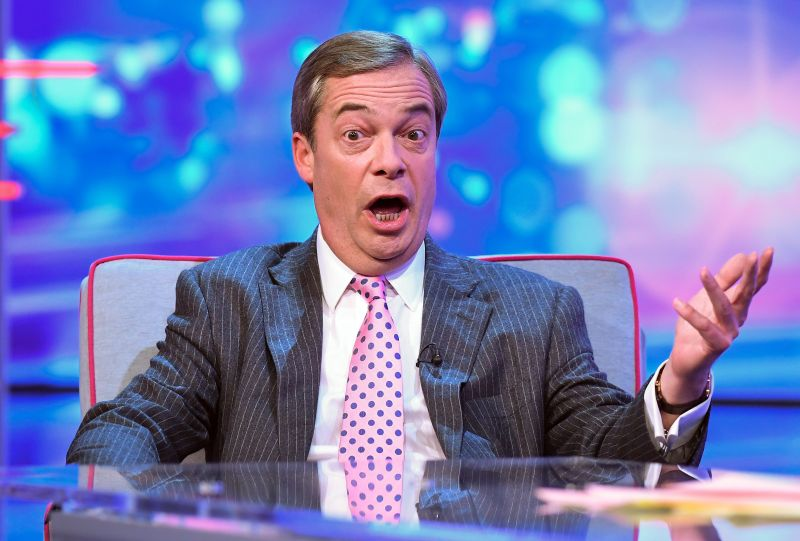 Nigel Farage said Brexit could mean a 'patriotic duty' for the public to buy more British produce (Photo: Jonathan Hordle/ITV/Shutterstock)
