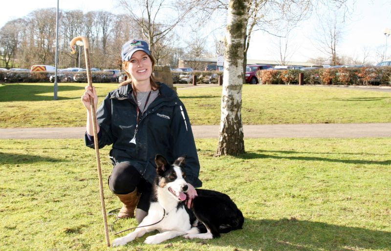 Farmer Emma Gray and her working dog Brenna broke a world record