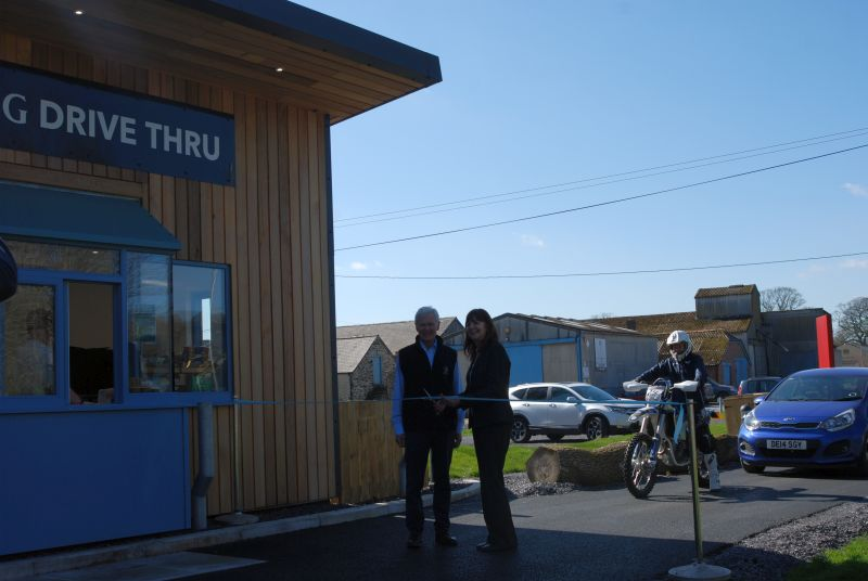 Wales' Rural Affairs Minister, Lesley Griffiths officially opened the drive thru