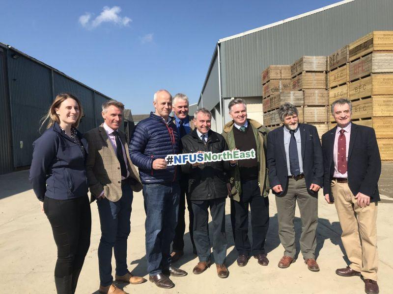 Defra's new farming minister, Robert Goodwill (centre) met with NFU Scotland union officials (Photo: NFU Scotland)