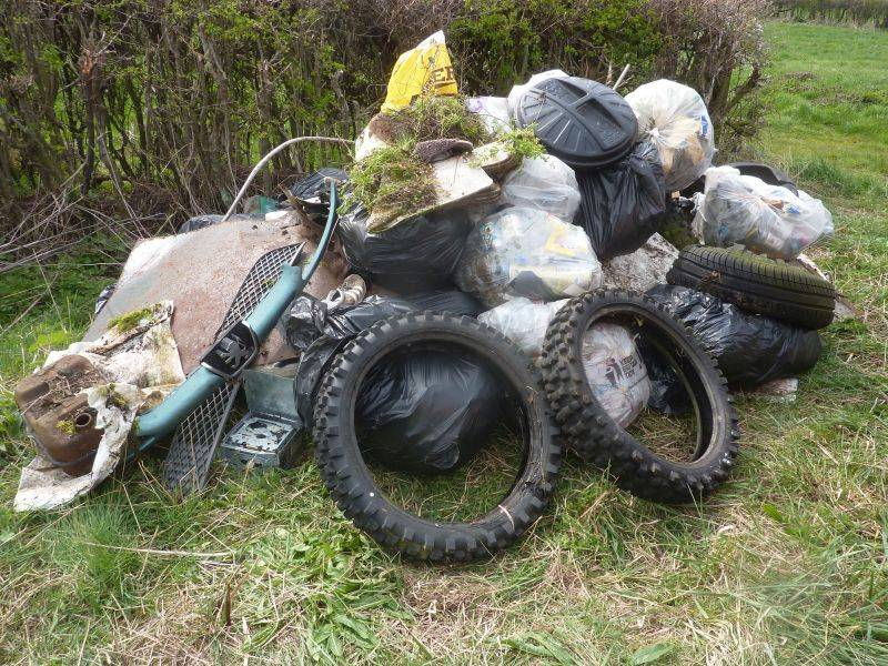 Farmers and landowners are calling for stronger enforcement of legal action to help combat fly-tipping that is blighting the countryside