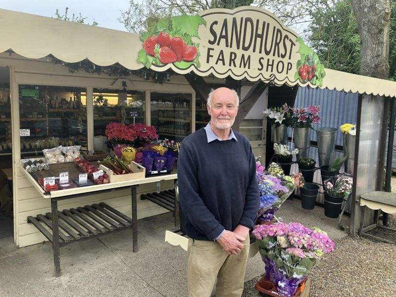Ashley Goodhew has run the farm shop business for 38 years