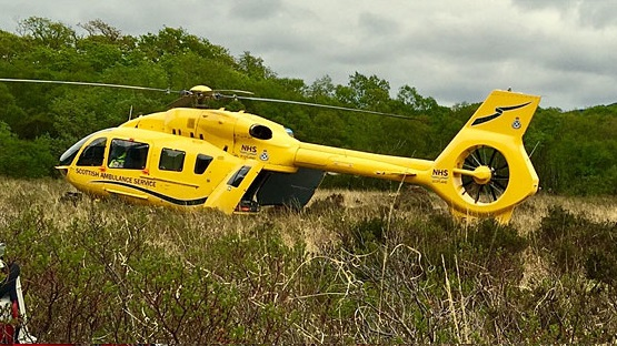 Two men have died following the collapse of a wall at a farm in Scotland (Photo: Scottish Air Ambulance)