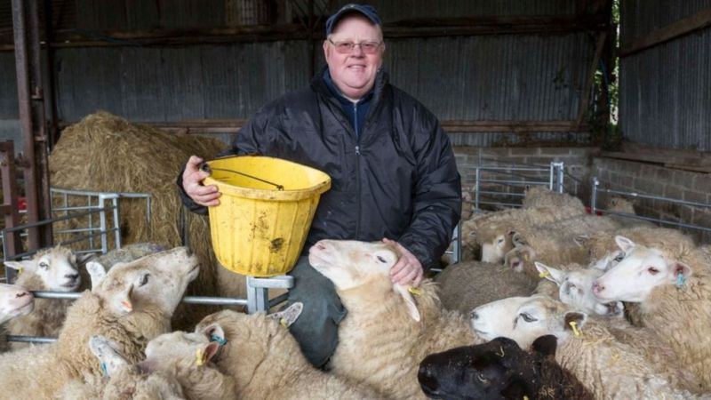 Dairy farmer Eurig Evans is currently training to become a counsellor (Photo: Mentar A Busnes)
