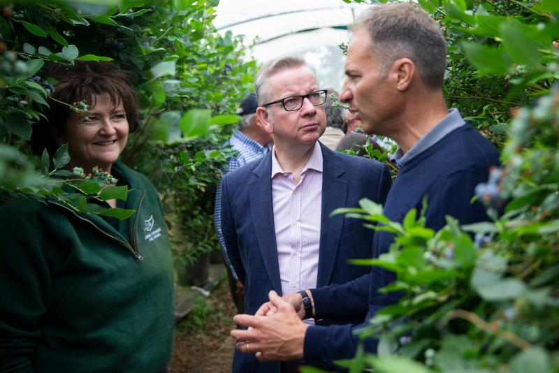 Michael Gove visited Surrey-based Tuesley Farm on Open Farm Sunday last year