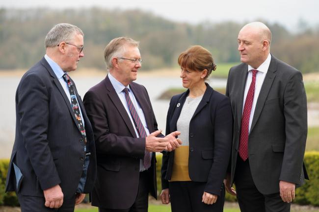 (L-R) Andrew McCornick of NFU Scotland; Ivor Ferguson of the UFU; Minette Batters of NFU, and John Davies of NFU Cymru