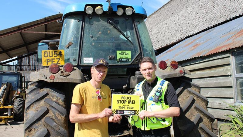 The stickers have been launched as part of a drive to clamp down on farm machinery thefts