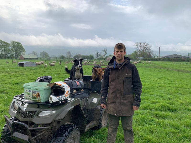 Ilan Hughes says his most important tools are an obedient working sheepdog and a well-maintained ATV