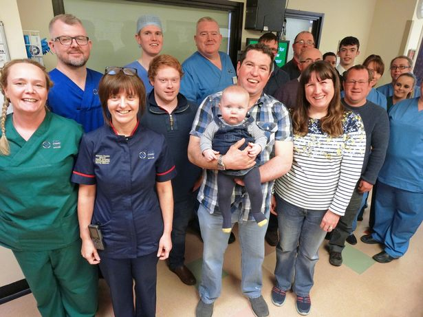 The farmer, who lost hand in an on-farm accident, has donated thousands to the ward which treated him (Photo: Swansea Bay UHB)