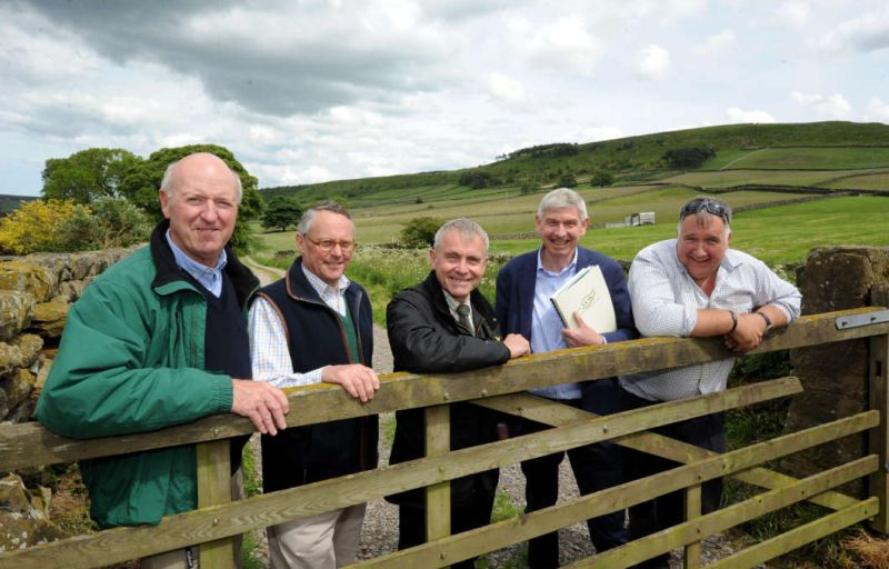 Robert Goodwill (centre) toured a North Yorkshire farm on the recent Open Farm Sunday