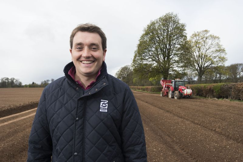 The host farm will use plots in their potato fields to run demonstrations (Photo: Kerr Howatson, Bruce Farms)