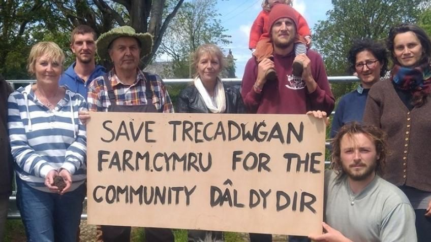 The campaigners want to stop the Pembrokeshire council farm from being sold at auction on July 17th (Photo: Crowdfunder)