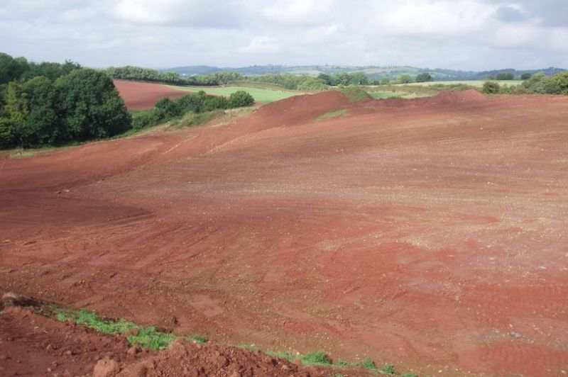 Stephen Dibble 'changed the appearance of the landscape' by filling a valley with 23,500 tonnes of soil