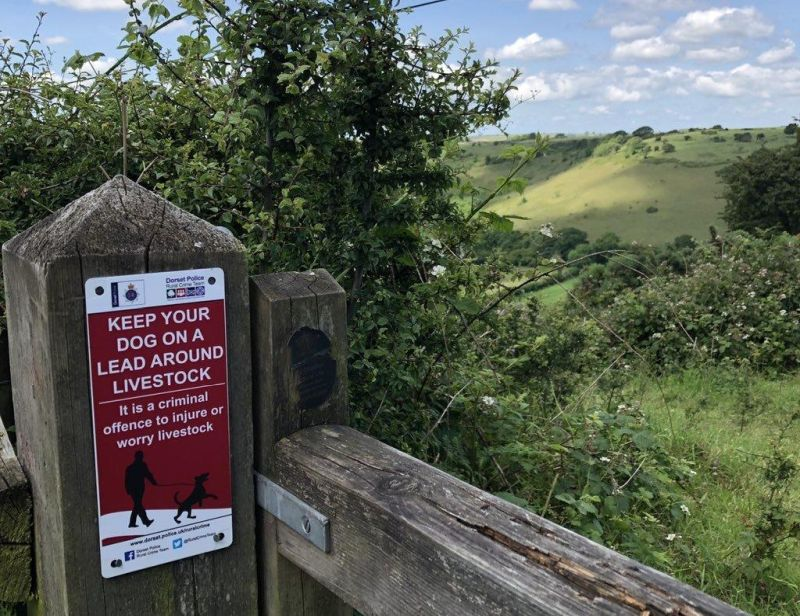 Signs have appeared in major countryside hotspots around the county (Photo: Dorset Police Rural Crime Team)