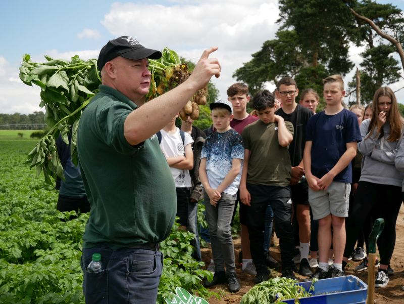 Farmers in the region came together to provide students with an engaging insight into farming