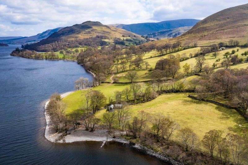 The farm sits on one mile of Ullswater lakeshore (Photo: Savills)