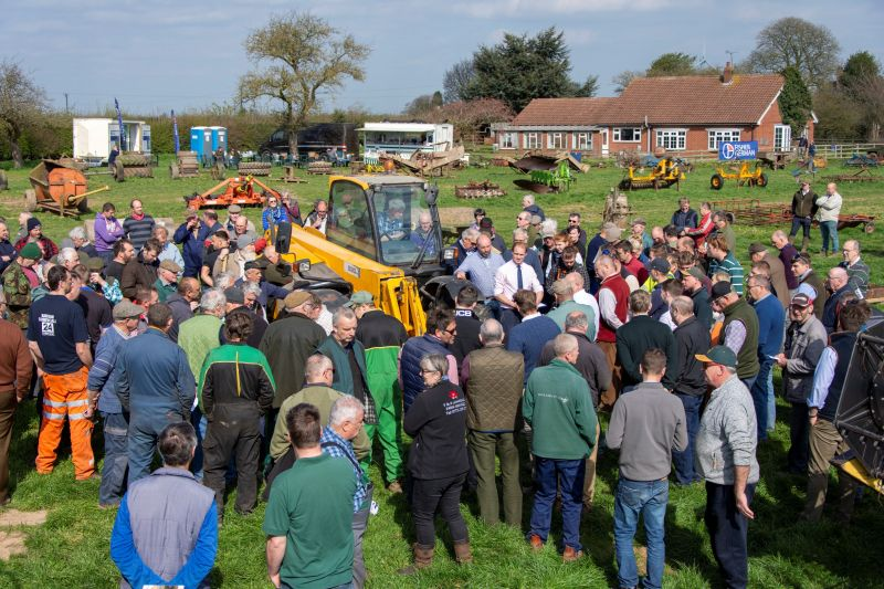 On-site machinery auctions remain an effective way of disposing of farm machinery