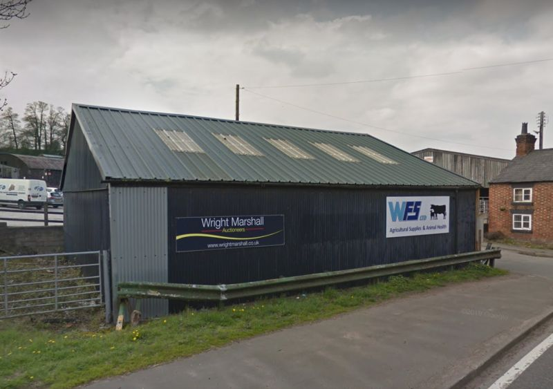 The company's rural auction mart in Cheshire has ceased trading with immediate effect and all 37 employees involved in that business have been made redundant (Photo: Google Maps)