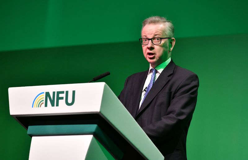 Michael Gove said farmers face 'many challenges' such as climate change and an expanding population