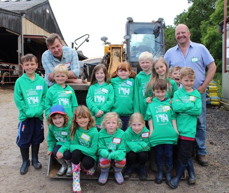 School children were taught the processes behind an award-winning dairy farm in County Durham