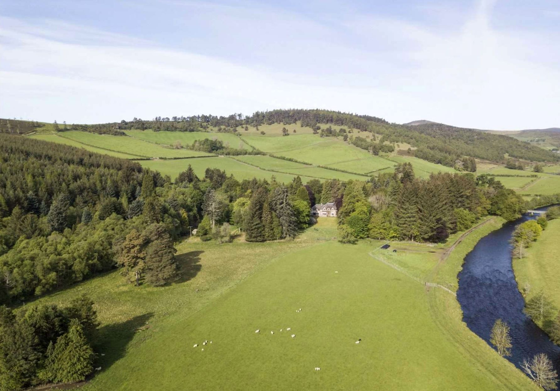 The entire estate consists of 975 acres (394.57ha) (Photo: Savills)