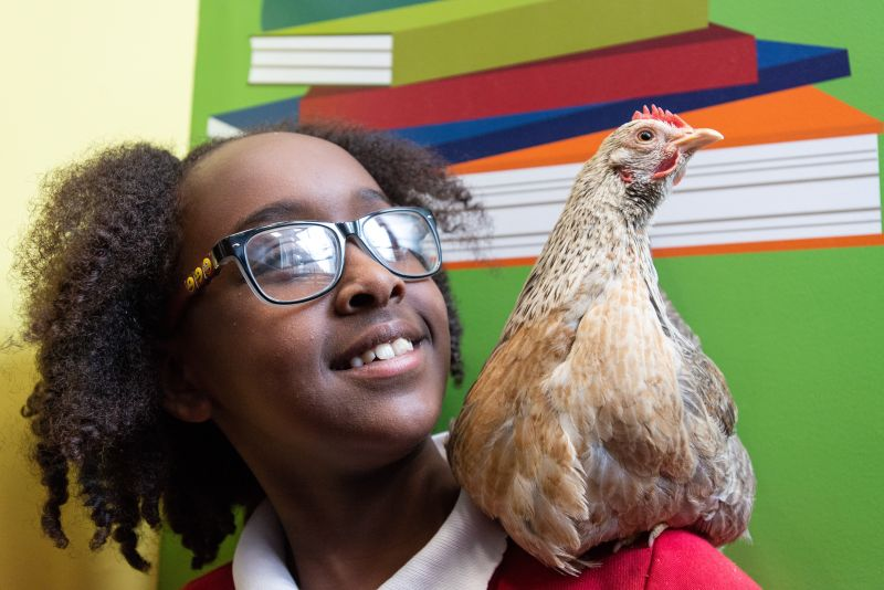 Children at an urban primary school in the centre of London delved into life as a farmer