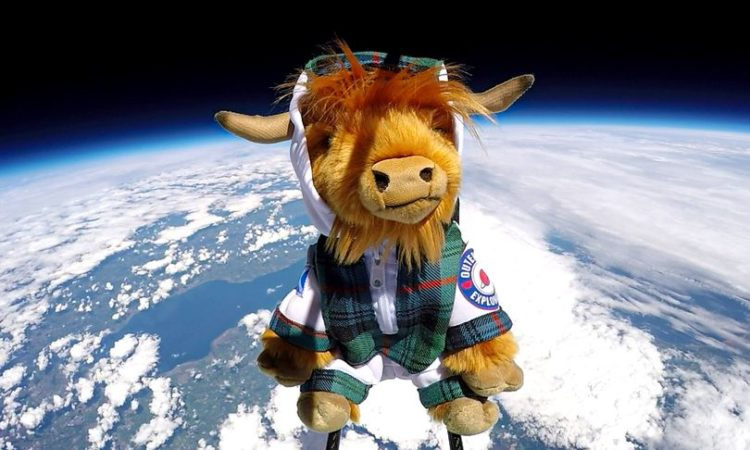 Footage has been released showing one of Scotland's national symbols in space
