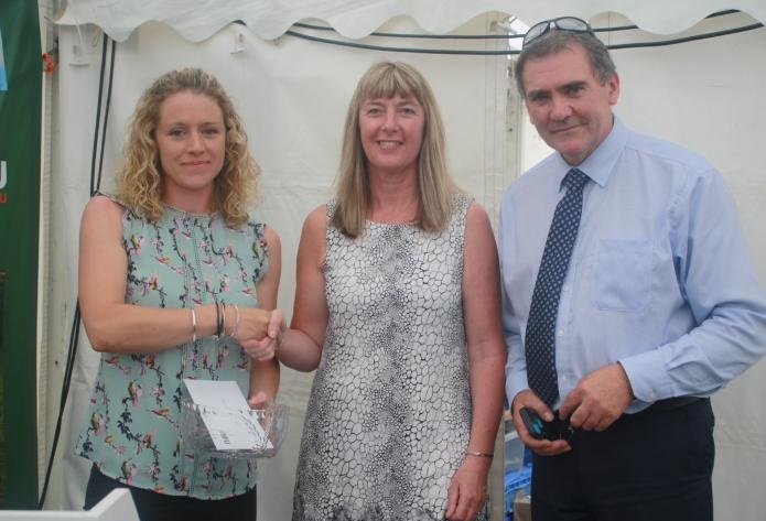 Nicola Drew's (L) farm is a successful beef and sheep enterprise