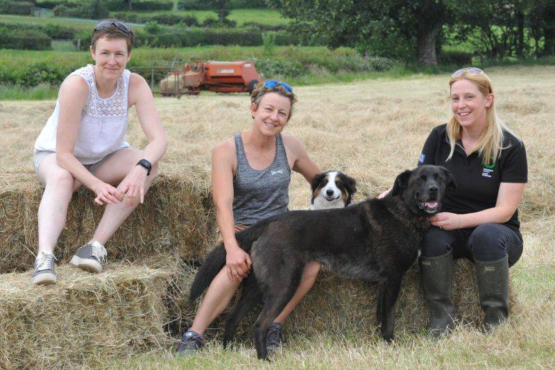 Marianne Burrell, Rhian Pierce and Gwen Davies are three farmers taking part in the educational initiative
