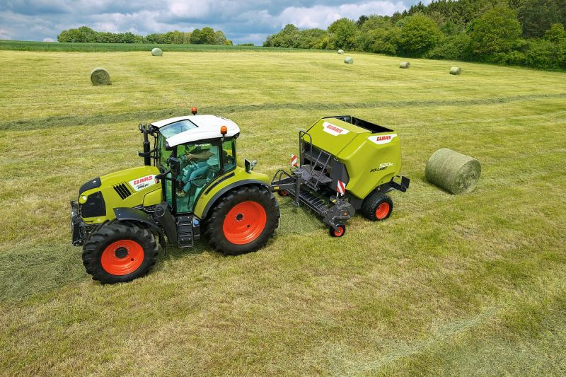 The Rollant 520 produces bales with a diameter of 1.25 m and width of 1.20 m