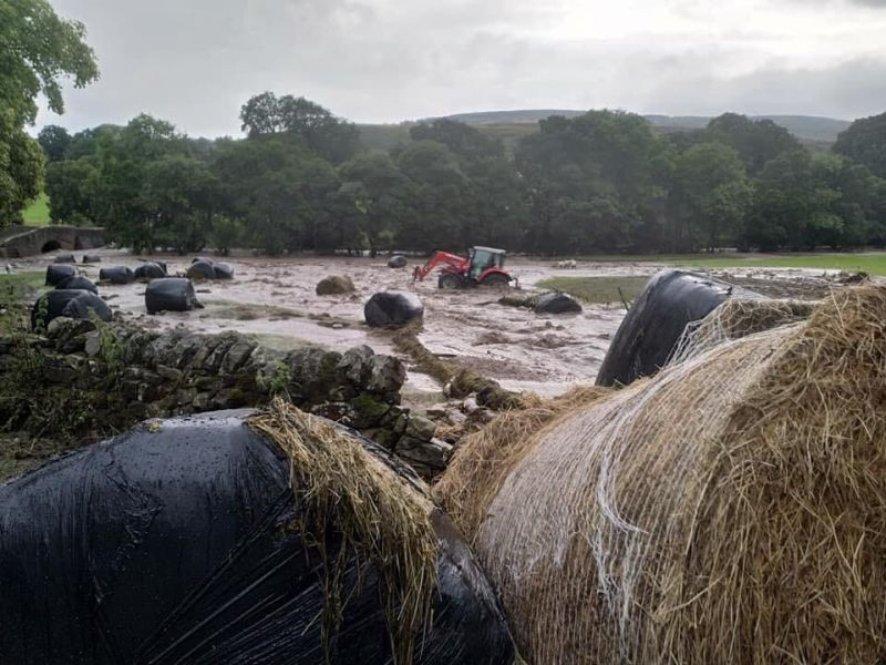 The charity Forage Aid is on the ground assessing the damage in North Yorkshire following the flooding (Photo: Forage Aid)