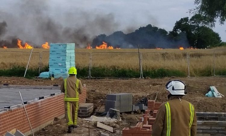 140 acres of farmland was destroyed following the fire (Photo: Humberside Fire)