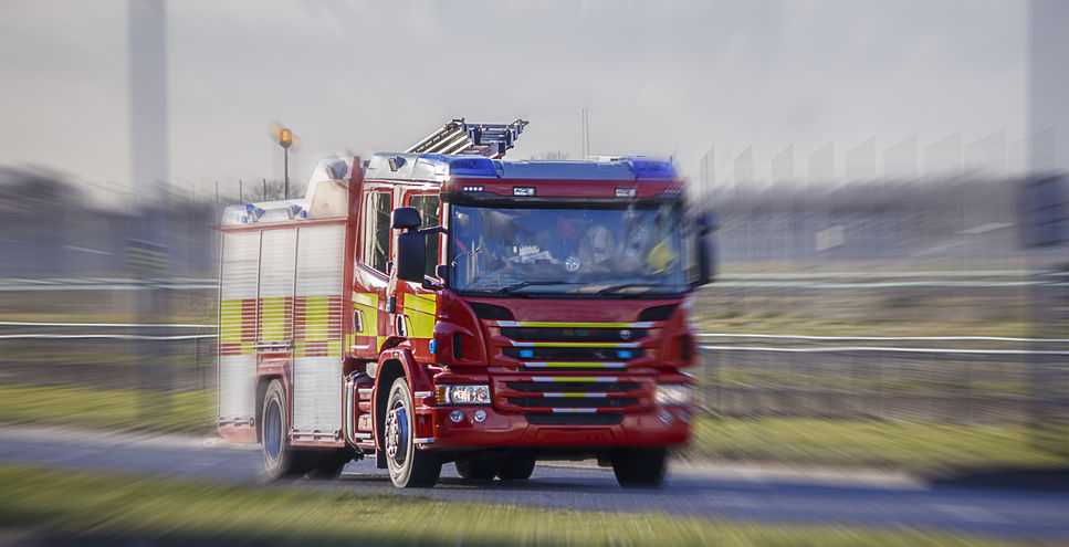 The suspected arson attack has resulted in a financial loss to a farmer, police said