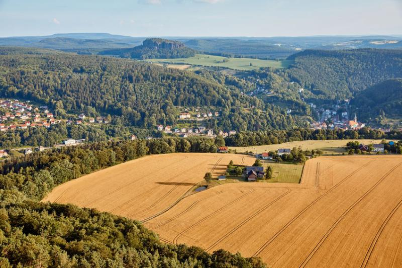 Farmland in Bad Schandau, Germany. The country is to ban glyphosate use from 2023