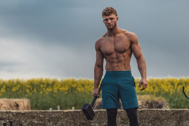 Tom Kemp runs an outdoor gym on his family farm in Essex