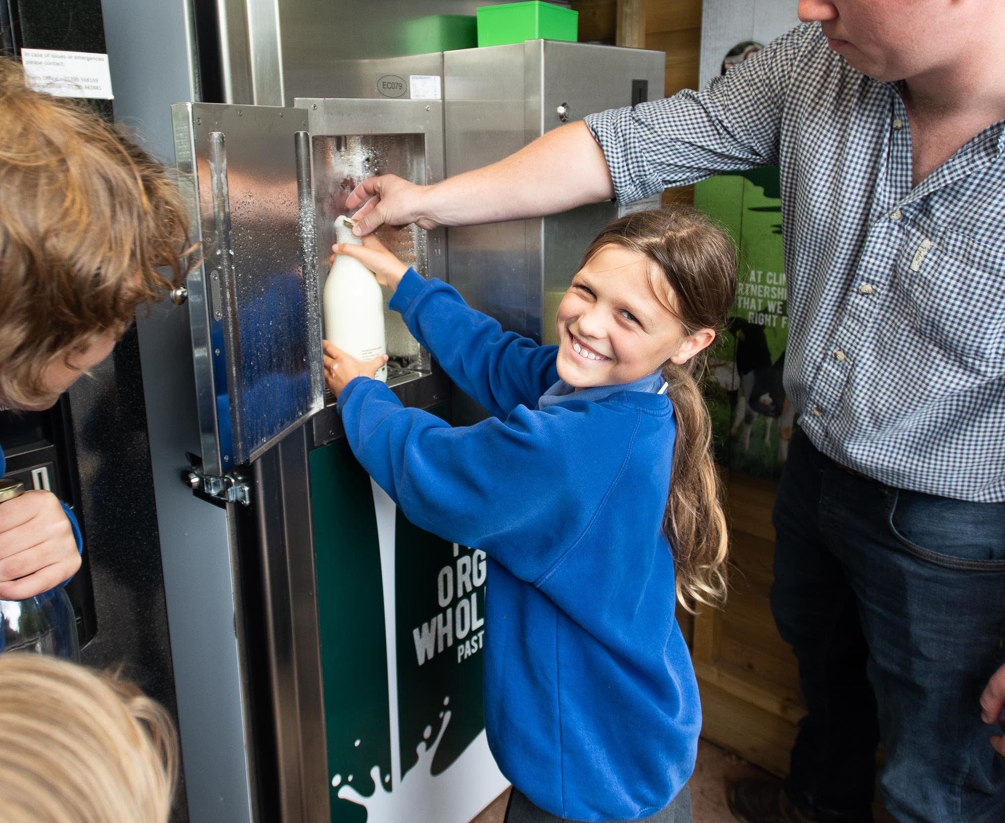The milk vending machine aims to bridge the gap between cows and consumers