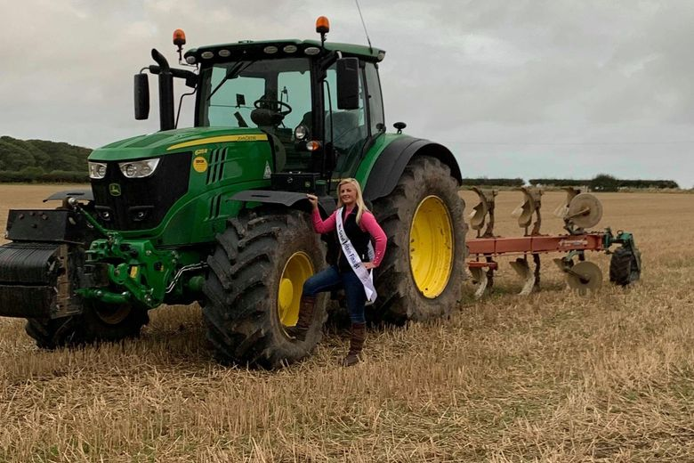 Sammy Lambert is usually found working on her family's arable farm in East Yorkshire