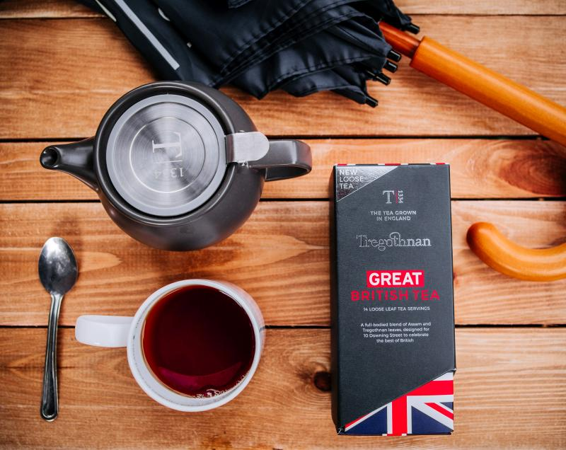 The Cornish grower produces the 'most British tea in history'