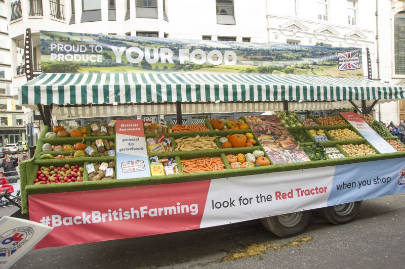 Tonnes of British food which was paraded at the recent Lord Mayor's Show will now help those in need