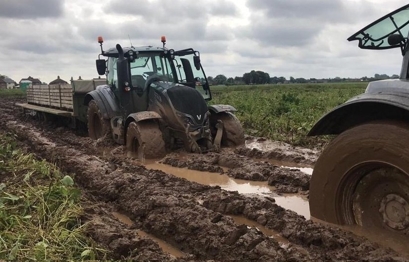 The rainfall the UK has experienced 'underlines the vulnerability' of farming businesses