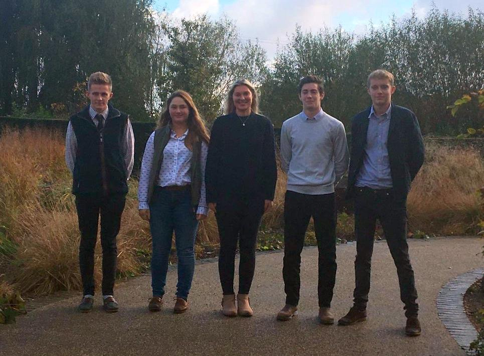 The winning applicants of this year's £5,000 agriculture bursary
