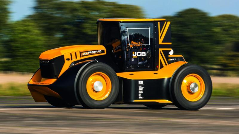 The Staffordshire-based machinery firm has broke its own record for fastest tractor in the world