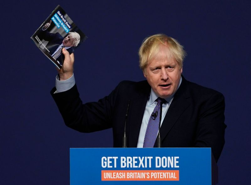 The manifesto highlights how it wants people in the UK and abroad to 'line up and buy British' (Photo: WILL OLIVER/EPA-EFE/Shutterstock)