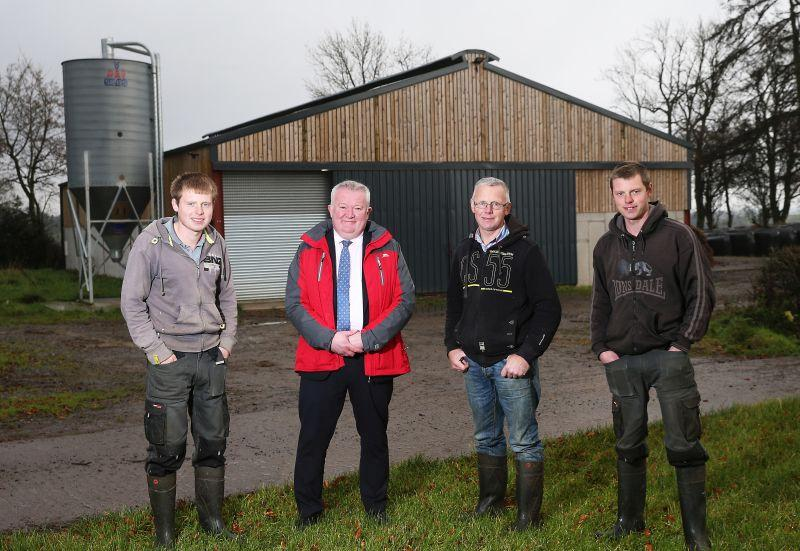 John Egerton (centre right) wants to ensure the family farm is a sustainable and profitable business for his sons to inherit